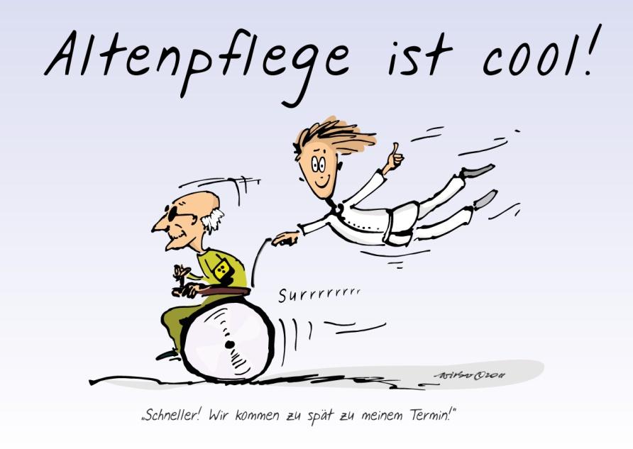 Cartoon für Imagekampagne