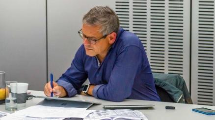 Wolfgang Irber beim digitalen Live-Graphic Recording