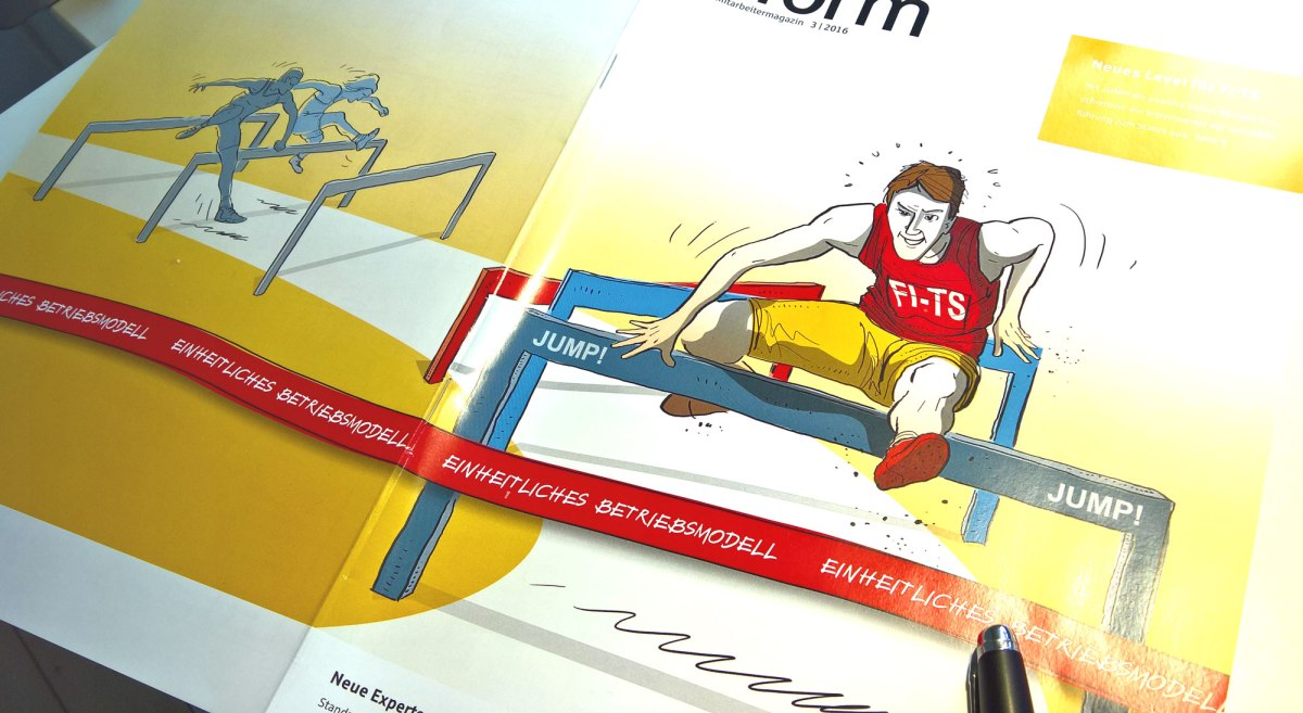 Frisch aus dem Druck: Umschlag-Illustration für ein Magazin