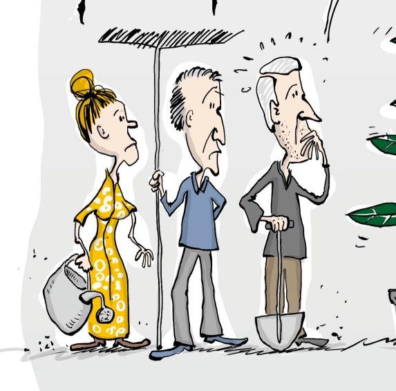 Cartoon für einen Change-Prozess